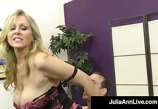 Dirty Talking Commanding Cougar Julia Ann Orders Her BoyToy!