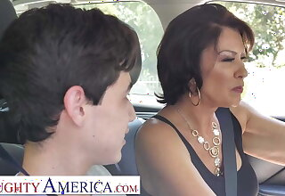 Mature stepmom teach stepson to make please