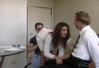 Handsome wife Rayleene rides another dick while affianced hubby watches