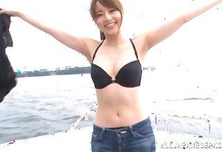 Astounding fucking on rub-down the private boat with hot ass Akiho Yoshizawa