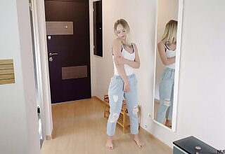 Lovely teen Emily Cutie is playing with yourselves right in the first place the floor