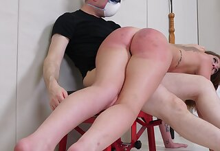 Ass spanked coupled with forced fucked back a brutal XXX cam scene