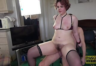 Trained inferior nigh fucked in her hairy snatch on home cam