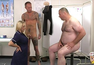 Fat dude with a small detect watches Victoria Summers blowing choice guy