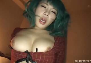 Blistering Konishi Yuu lets a friend drill her wet cunt from behind