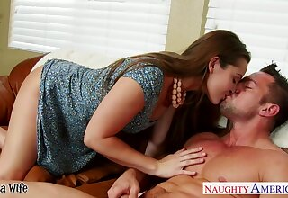 Slutty housewife Dani Daniels makes a pass at alluring unavailable neighbor