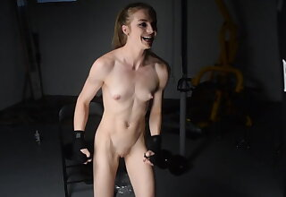 Workout and flexing and cum