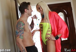 Explicit looking blonde babe Nina Elle desires to be fucked damn first-class