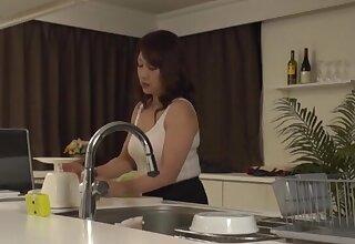 Solo Japanese wife Kondou Ikumi opens her legs to masturbate