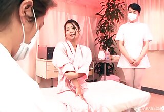 Japanese MILF offers massage and intercourse some time ago