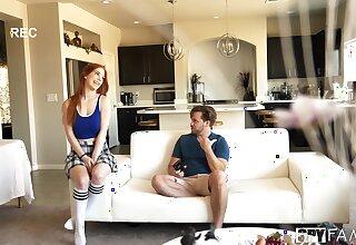 Fetching redhead Nala Brooks gets fucked crap deep down the living-room