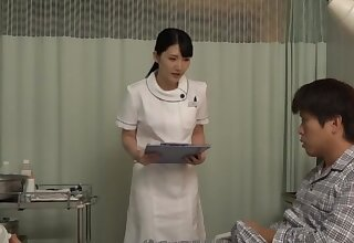 Amazing nude Japanese nurse upon intimate coherence with a patient