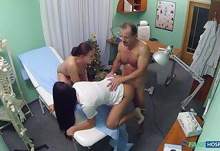 Doc, Cleaner, Nurse Xmas Threesome
