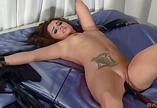 Curvy redhead plays obedient be fitting of the right dose of cock
