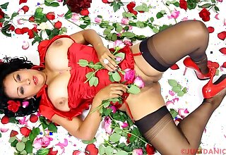 Large boobs cougar Danica Collins spreads her legs to represent