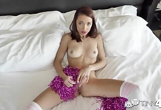 Tiny4K: Pale Cheerleader Paisley Rae Creampied By Thick Dick on PornHD