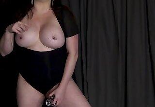 Busty dominatrix Sophie Monroe gives jerk-off MO