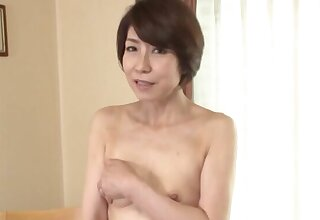 Cum in mouth ending after sex nearly skinny Japanese Suzuki Sachiko