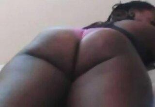 Ebony Booty In Hot Pants