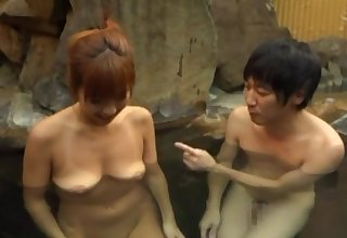 Sexy Asian milf fucked in the water