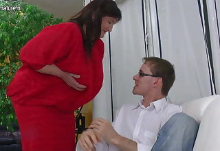 Fat old granny fucked hard by young boy