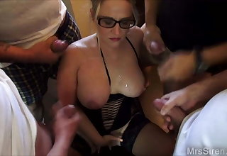 Wife Surrounded by Guys Jerking Off