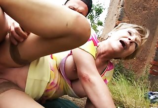 3 of the best hot and fit grannies fuck and suck outdoors