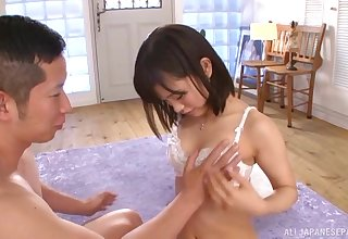 Sweet Asian teen babe Akiyoshi Kanon fucks until she gets a cum shot