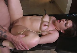 Real chubby bondage slut Kimber Woods deserves some rough anal banging