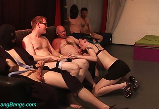 Sex-starved nerds fucks professional harpy Trixi one receipt another
