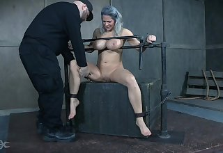 Busty MILF receives way partition line BDSM treatment