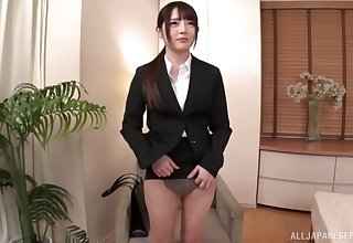 Japanese girl with amazing aggravation fucked and sucks a dick in the nullify