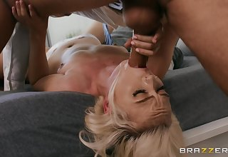 Naked blonde doll gagged then fucked in destructive proceeding