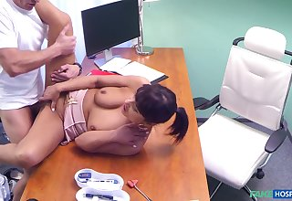 Dirty adulterate tells his patient to remove her bra and pantihose