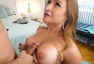 Titty shacking up and dispirited blowjob with bodacious Skylar Put one over on
