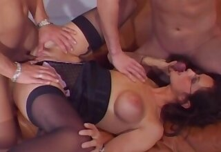 Hot mature fucked by two guys in insulting trilogy