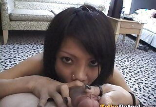 Having be means of BJ Filipina nympho Roseanne bends over for some doggy