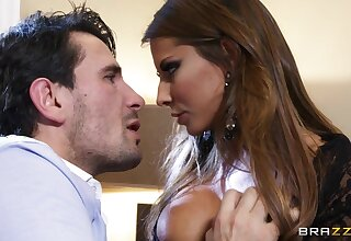 Pornstar Madison Ivy enjoys procurement face fucked + cum on boobs