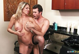 Hardcore fucking on the office advisers aboard with blonde Angela Attison