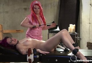 Fat Mistress Cynicism enjoys torturing plummy Cheri Rose