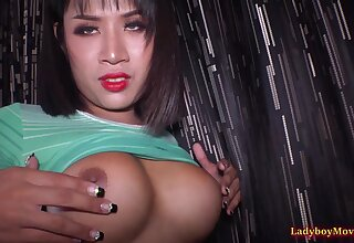 Ladyboy Nim Gives Blowjob And Ass Fucked Bareback