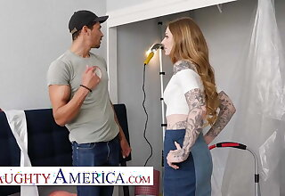 Naughty America - Penny Archer has rub-down the hots for her friend's brother