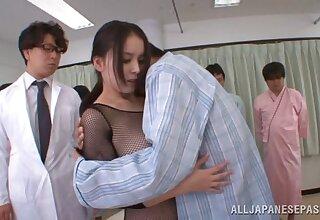 Seductive Asian model Anna Natsuki moans during a MMF threesome